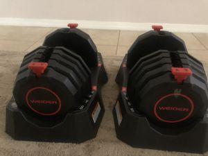 100 LB adjustable dumbbell set! for Sale in Yucaipa, CA