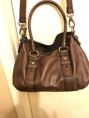 Genuine Fossil Heavy duty leather bag with adjustable shoulder strap. Rarely used Solid bag for Sale in Riverview, FL