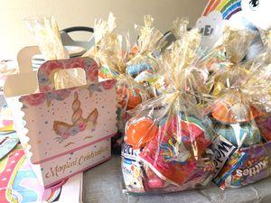 Candys, unicorn pail, candy box unicorn for Sale in Modesto, CA