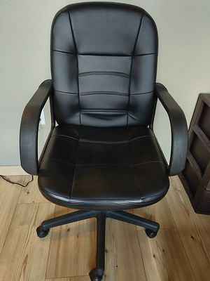 Office swivel chair - padded leather, height adjustable for Sale in Seattle, WA