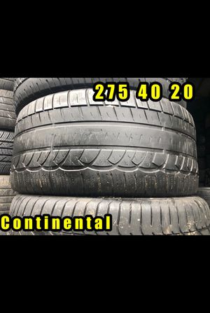 275 40 20 Continental Single tire only $30 for Sale in Taylors, SC