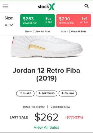 Jordan 12 fiba for Sale in San Antonio, TX