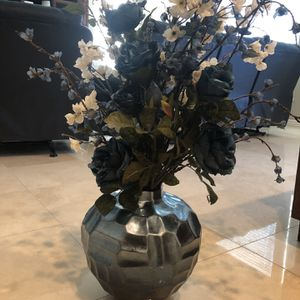 Beautiful Blue Pot With Blue Flowers for Sale in Yorba Linda, CA
