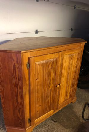 Beautiful handcrafted fir corner cabinet for Sale in Tacoma, WA