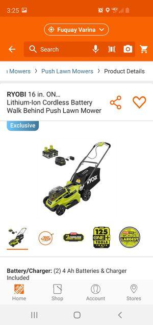 Ryobi electric lawn mower for Sale in Tarboro, NC