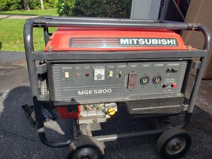 Mitsubishi mge5800 5800 watt generator for Sale in Tamarac, FL