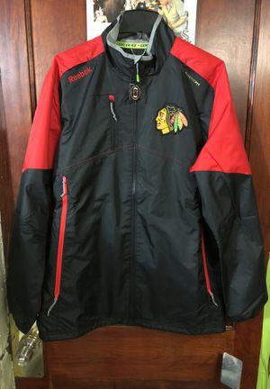 Blackhawks Reebok Jacket LARGE Rink Jacket for Sale in Chicago, IL