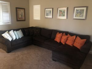 Ashley dark brown sofa (Made in the USA) for Sale in Manteca, CA