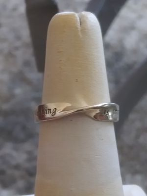 Beauty & health..Very nice Sterling Silver 925 nothing is possible ring .size 7.5 for Sale in Lincoln Acres, CA