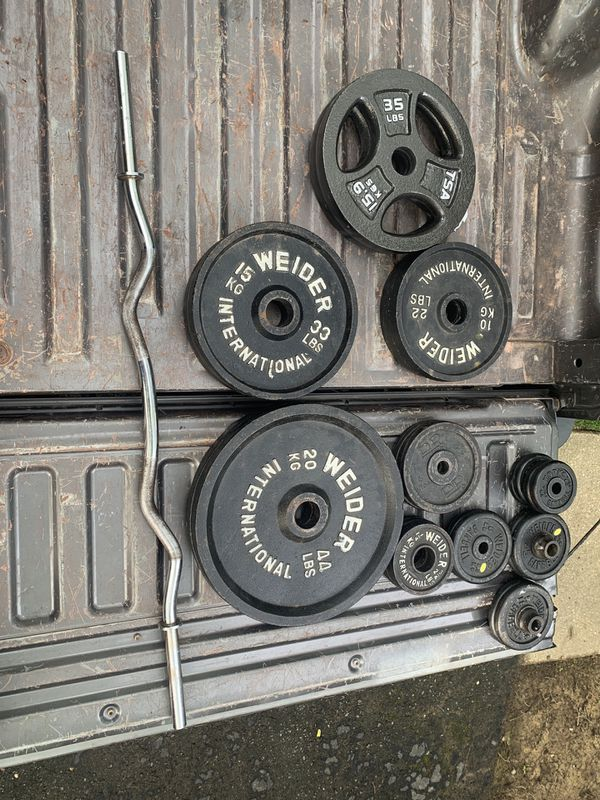 Weights 2 inch and 1 inch with 1 inch bar.