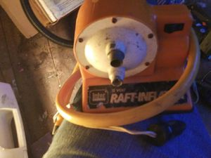 Raft-inflator portable to car.used for Sale in Grand Prairie, TX