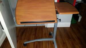 Adjustable Laptop Stand Cart Rolling Computer Desk Delux Mobile Lap Desk Workstation Notebook Cart Over Bed Table for Home Office w/Lockable Casters for Sale in Poway, CA
