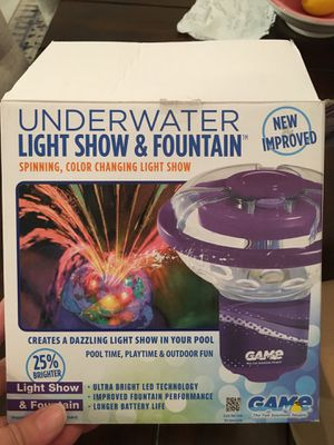 Water fountain light show underwater spinning color changing light show for your pool for Sale in Kissimmee, FL