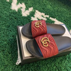 Leather Gucci Slides for Sale in Las Vegas, NV