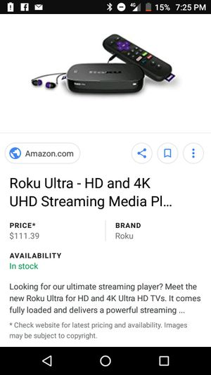 Roku ultra for Sale in Columbus, OH