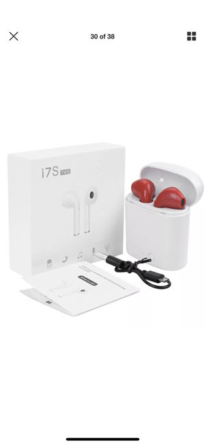 New Red I7s Bluetooth headphones earbuds wireless audifonos earbuds for sale for Sale in San Mateo, CA