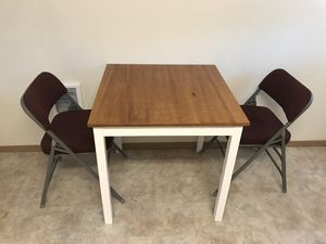 Square kitchen table and 2 chairs for Sale in Bend, OR