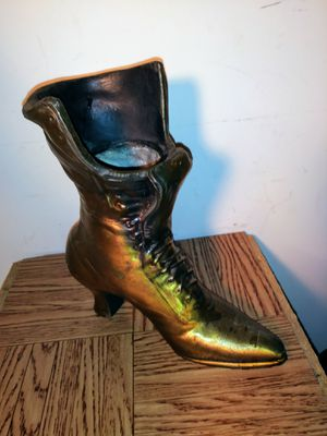 Cast Iron Boot Door Stopper/Planter for Sale in St. Louis, MO