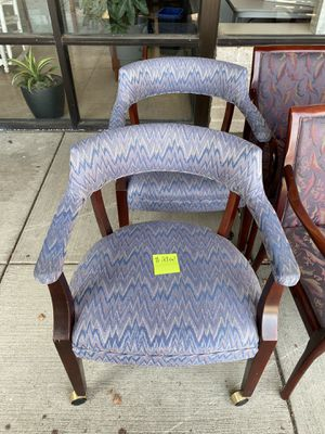 (2) $29 ea Traditional office chairs on casters for Sale in Columbus, OH
