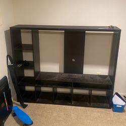 Black IKEA TV stand for Sale in Lutherville-Timonium,  MD