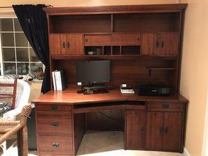 Craftsman oak desk and hutch for Sale in Watsonville, CA