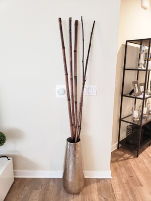 Home decor hammered vase and bamboo sticks for Sale in Irvine, CA