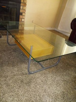 Glass Coffee Table With Storage for Sale in Suisun City, CA
