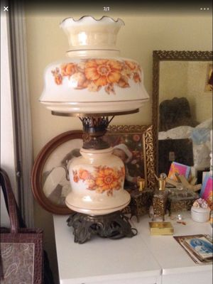 Vintage lamp - circa 1950s - new condition! Lights on bottom and top for Sale in Boca Raton, FL