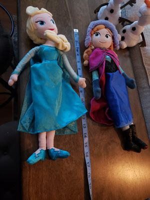 Frozen plush dolls... $20 for all FIRM!!! for Sale in Dinuba, CA