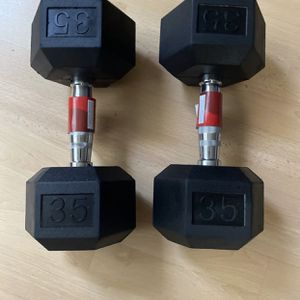 Two 35 lbs Dumbbells for Sale in Bethesda, MD