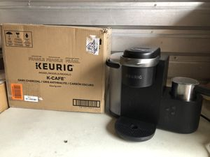 Keurig K-Cafe Single-Serve K-Cup Coffee Maker, Latte Maker and Cappuccino Maker, Comes with Dishwasher Safe Milk Frother, Coffee Shot Capability, Com for Sale in Las Vegas, NV