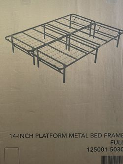 "14"" Platform Metal Bed Frame (Full) for Sale in Pittsburgh,  PA"
