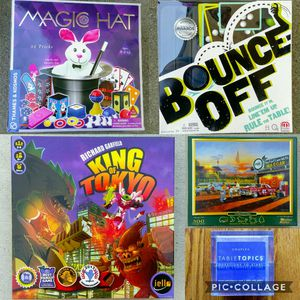 King of Tokyo, Magic Hat, Bounce-Off, NASCAR puzzle, Table Topics for Sale in San Mateo, CA