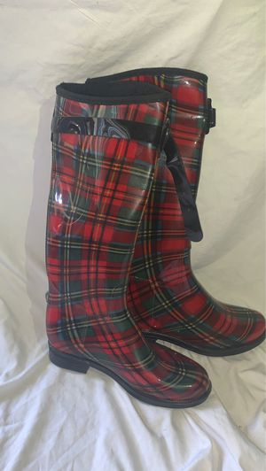 Plaid Rain Boots Women's Size 7 for Sale in Fremont, CA