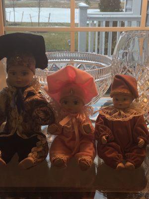 Porcelain Capodimonte Dolls (3) for Sale in Aspen Hill, MD