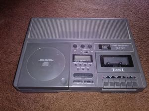 Very rare EIKI 7070 Cassette and cd player.Tested works perfect for Sale in Palmdale, CA