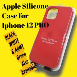 Apple Silicone Case For Iphone 12/12 Pro (Red Color) for Sale in Miami,  FL