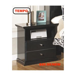 Maribel Nightstand, Black for Sale in Pico Rivera, CA