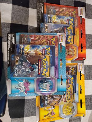 Pokemon 3 booster Pin Pack, XY Evolutions. Steam Siege. Sun & Moon for Sale in San Diego, CA