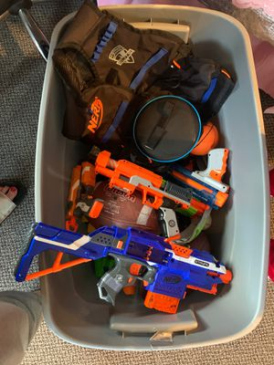 Box of nerf guns $40 today pick up for Sale in Fremont, CA
