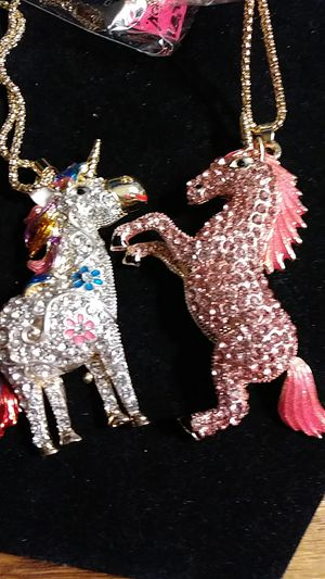 $12.50 Betsey Johnson Crystal unicorn necklaces for Sale in Fresno, CA