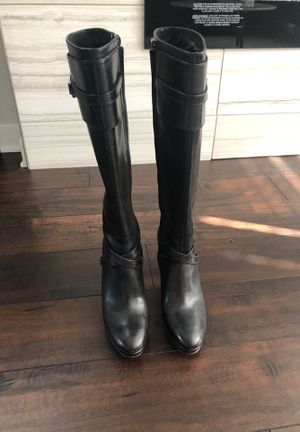 Cole haan leather tall boots black 7.5b for Sale in Edmonds, WA