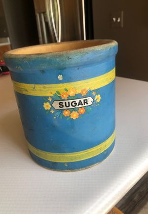 Antique blue sugar crock for Sale in Beulah, MI