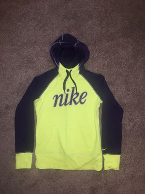 Neon yellow and purple Nike hoodie for Sale in Glenside, PA