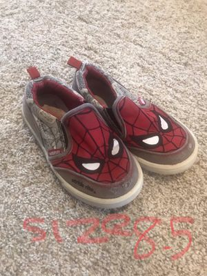 Spider man slip on toddler shoes for Sale in Mokena, IL