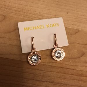 Rose gold tone crystal MK earrings for Sale in Charles Town, WV