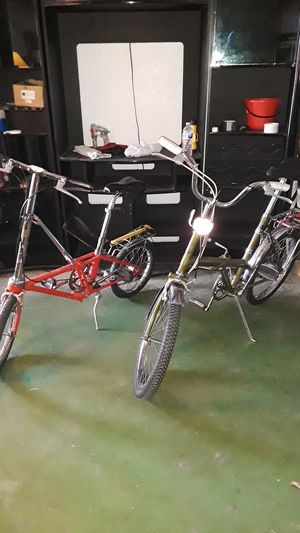 """HIS & HERS CLASSIC 16"""" & 20"""" FOLDING TRAVEL BICYCLES VINTAGE BIKES GERMAN AND BRITISH for Sale in Mesa, AZ"""
