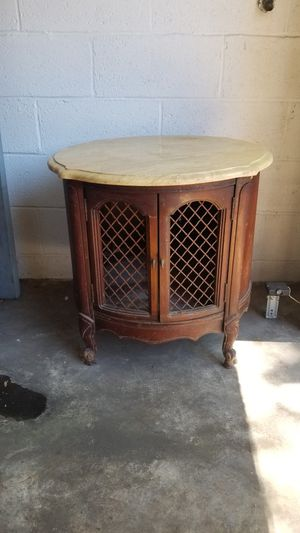 Antique table with marble top for Sale in Jersey City, NJ
