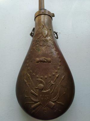 Italian Replica of Civil War Gunpowder Flask for Sale in Chicago, IL