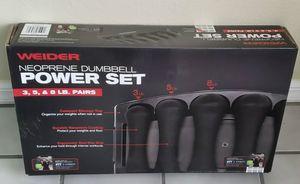 New Neoprene Dumbbell Set - (3lb, 5lb, & 8lb sets included) for Sale in Millis, MA